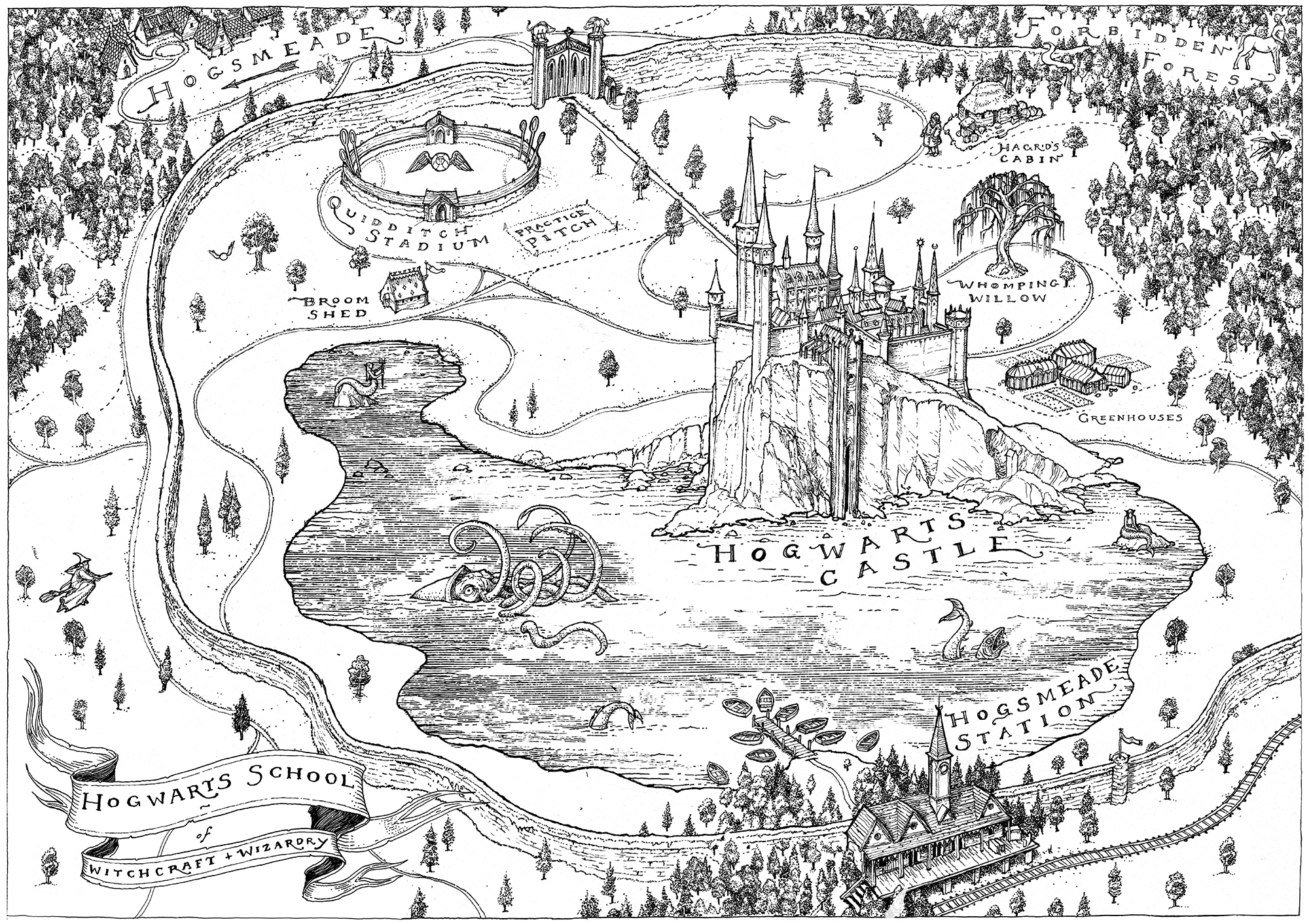 Levi Pinfold Harry Potter map