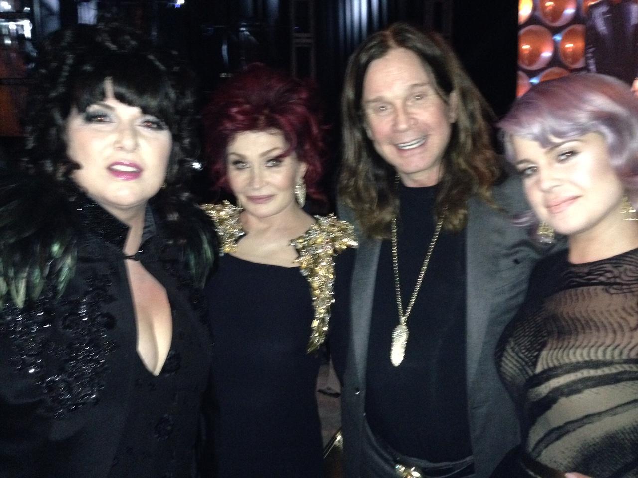 Ann Wilson With The Osbournes at Elton John Party