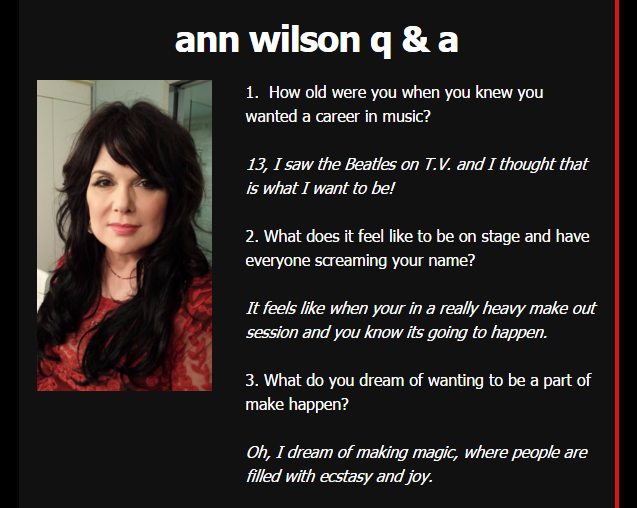 ann wilson november 2015 questions and answers