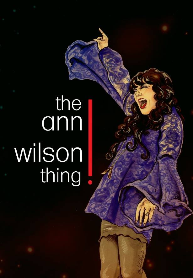 drawing of ann wilson by Becky Welton-Fodder