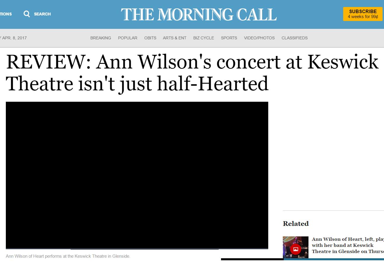 ann wilson of heart review