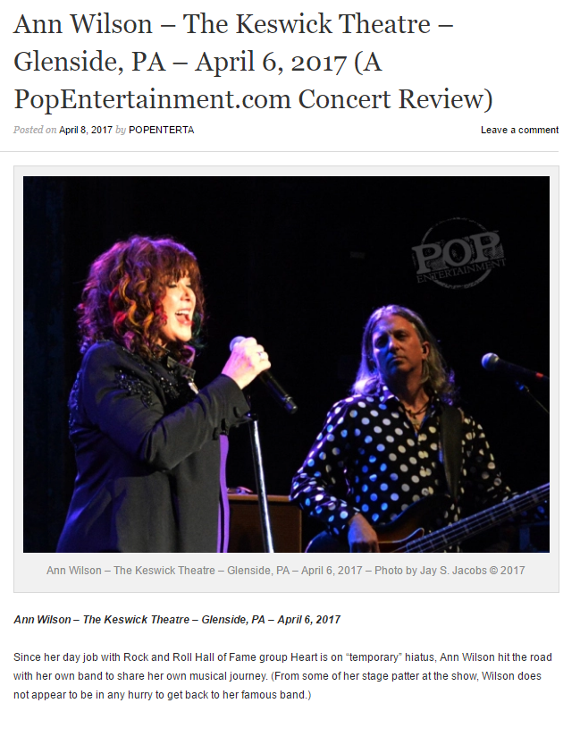 ann wilson PA show review