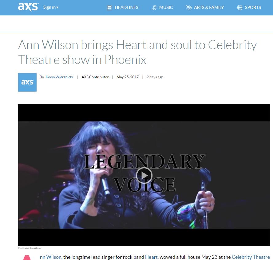 axs.com ann wilson
