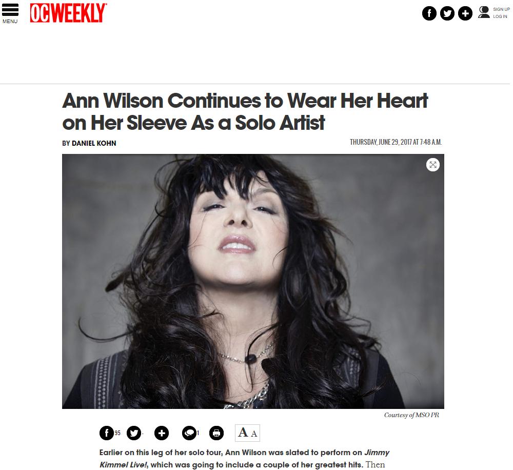ann wilson alone