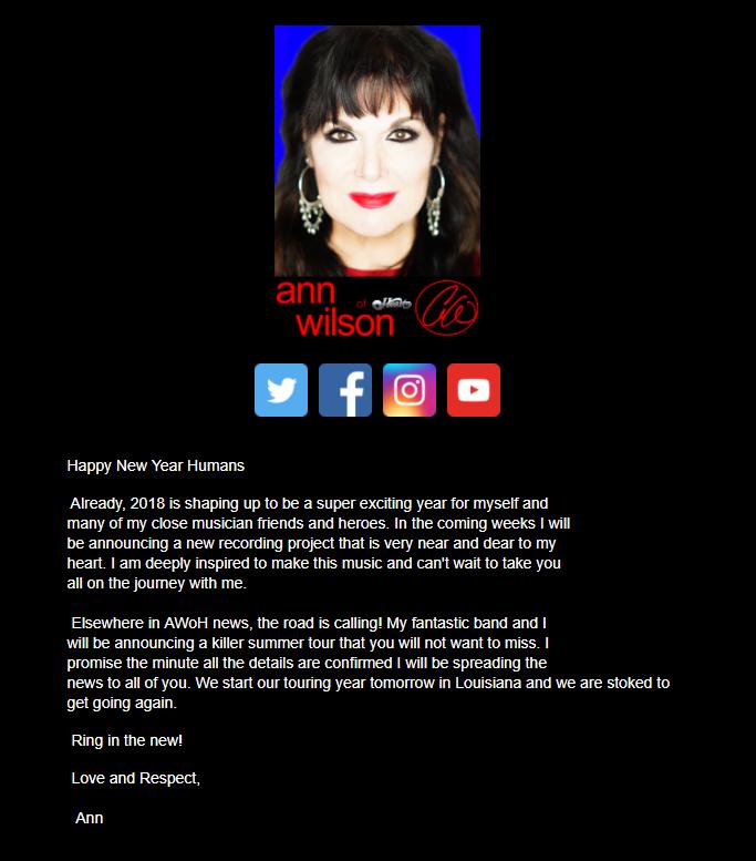 ann wilson of heart news project