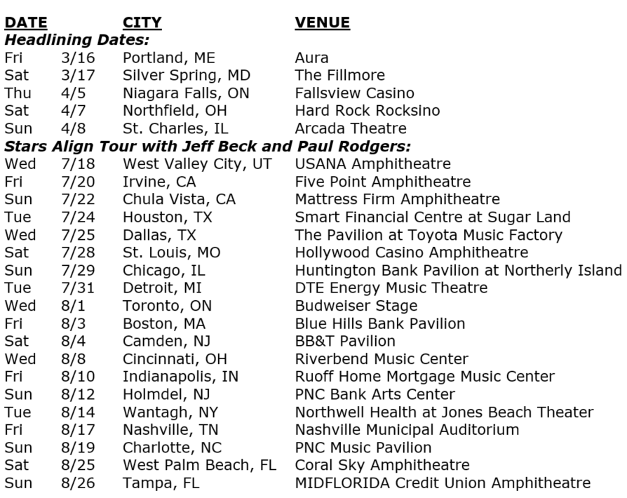 ann wilson of heart tour dates