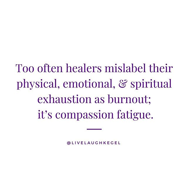 "I believed that I was burned out because I was drained and exhausted after certain clients, after many days of work. So can you imagine my shock when I learned that's not what I experienced? . . . Compassion fatigue is mental, physical, & emotional exhaustion from caregiving. It manifests itself as symptoms in ALL of those categories and can be focused in one area more heavily than others (for example, many physical issues especially headaches/migraines, GI dysfunction, and persistent pain throughout the body). . . . Whereas burnout causes an employee to withdraw from their job, people experiencing compassion fatigue try harder, thus creating a cyclical pattern of more fatigue. . . . In my time diving into this area, I have found a recurring pattern in my clients with compassion fatigue. I've named it ""The Bermuda Triangle of Caregiving."" These three risk factors together are a seemingly perfect storm. The risk factors alone do not mean you WILL have this issue. Compassion fatigue is the sum of many exposures to others' trauma. However, these three risk factors together result in habits & patterns which do not serve the caregiver. . . . The three components are: Untamed Empathy High Self Criticism Poor Self-Care . . . This week I'm going to dive in CF for you; what do you want to know?? Have you heard of this before? What's been your experience?"