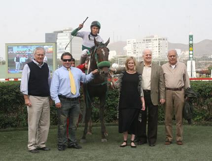 My family's winnig Grade 3 race mare HUELVA .... beat the colts in mile and a quarter.