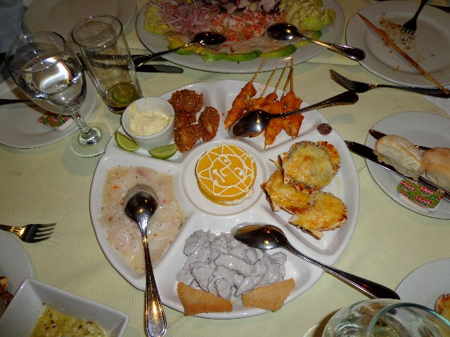 Peruvian Sea Food, the best in the world.