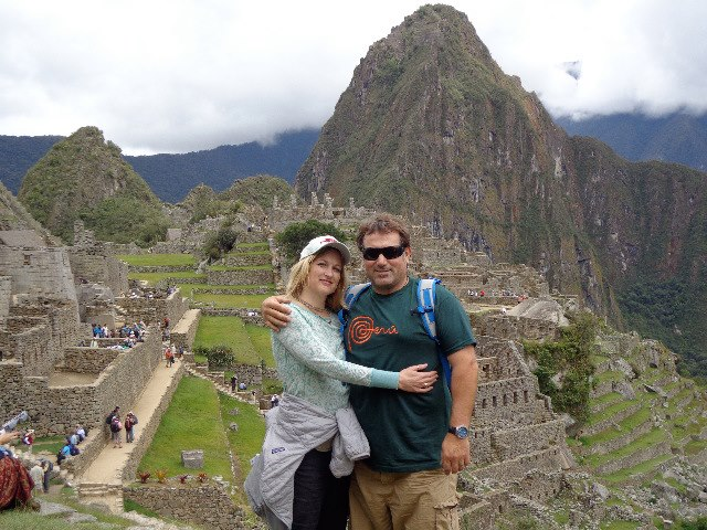 with my love Leslie in Machu Pichu.