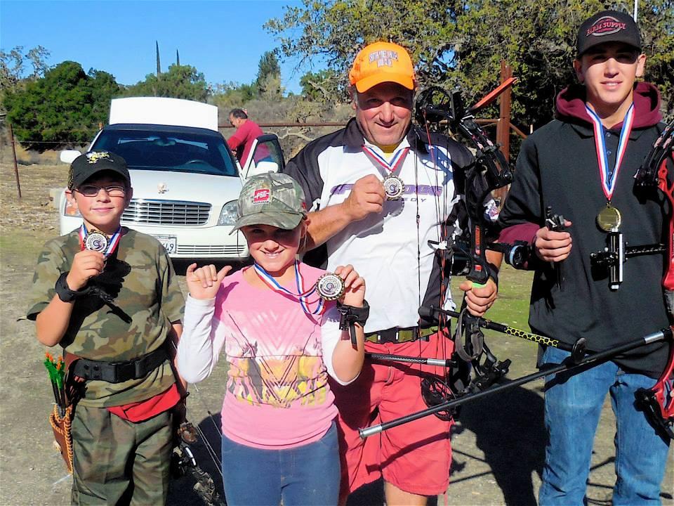 Winning the Archery Championships in Sta Ynez.
