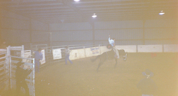 Bucking some horses in Oklahoma at a rodeo !