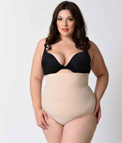 Spanx higher power panty smooths the tummy and butt. Size up to 3X $38 at Spanx.com. Curvy Rose is not a paid sponsor for Spanx.