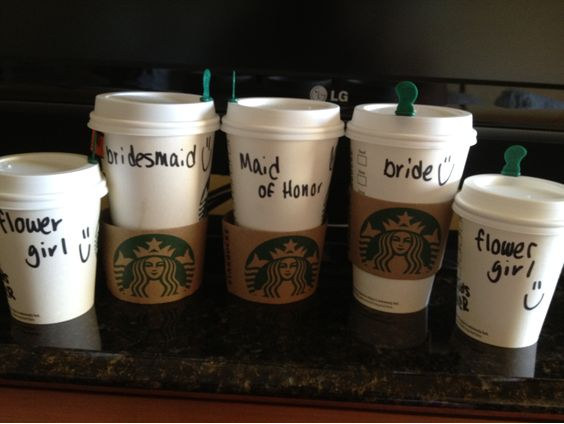 If you send your MOH to    Starbucks   , see if the barista will label your respective orders!