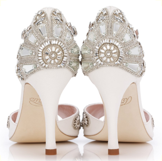 Stunning bridal shoes from EmmyLondon.com