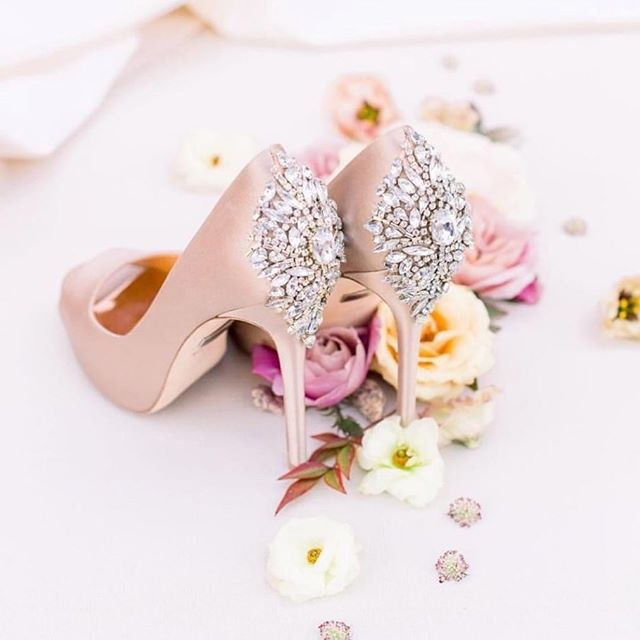 As you know, we love shoes and these Kiara Peeptoe Pumps by @BadgleyMischka are no exception. Known for their formal silhouette and bling accents, we recommend them to brides and their tribe all the time!!⠀ ⠀ Not only do they have a variety of styles to choose from, they are so pretty you'll want to wear them again and again.  Whether you rock a heel like these blush beauties or slay with a chic flat you'll find the right note on the @BadgleyMischka website. ⠀ ⠀ ✍🏾Tip: they always have sales and financing on select styles, so check their page often. 😉👌🏾⠀ ⠀ #ChooseLove #BeaLove #BeaYou #BeaU⠀ ⠀ 📸: @badgleymischkabride via @rebeccalovephotography ⠀ ⠀ 🌹⠀ .⠀ .⠀ .⠀ #curvyrose #curvyrosebridal #wearecurvyrose #BeLove #BeYou #curvybrides #bodypositivebridal #sizeinclusivebridal #bridalstylist #bridalstyling #curvybridalgowns #2019bride #2020bride #atlantabride #engaged #weddingdresses #weddinggown #bridalgown #bridaldress #atlantaweddings 🌹