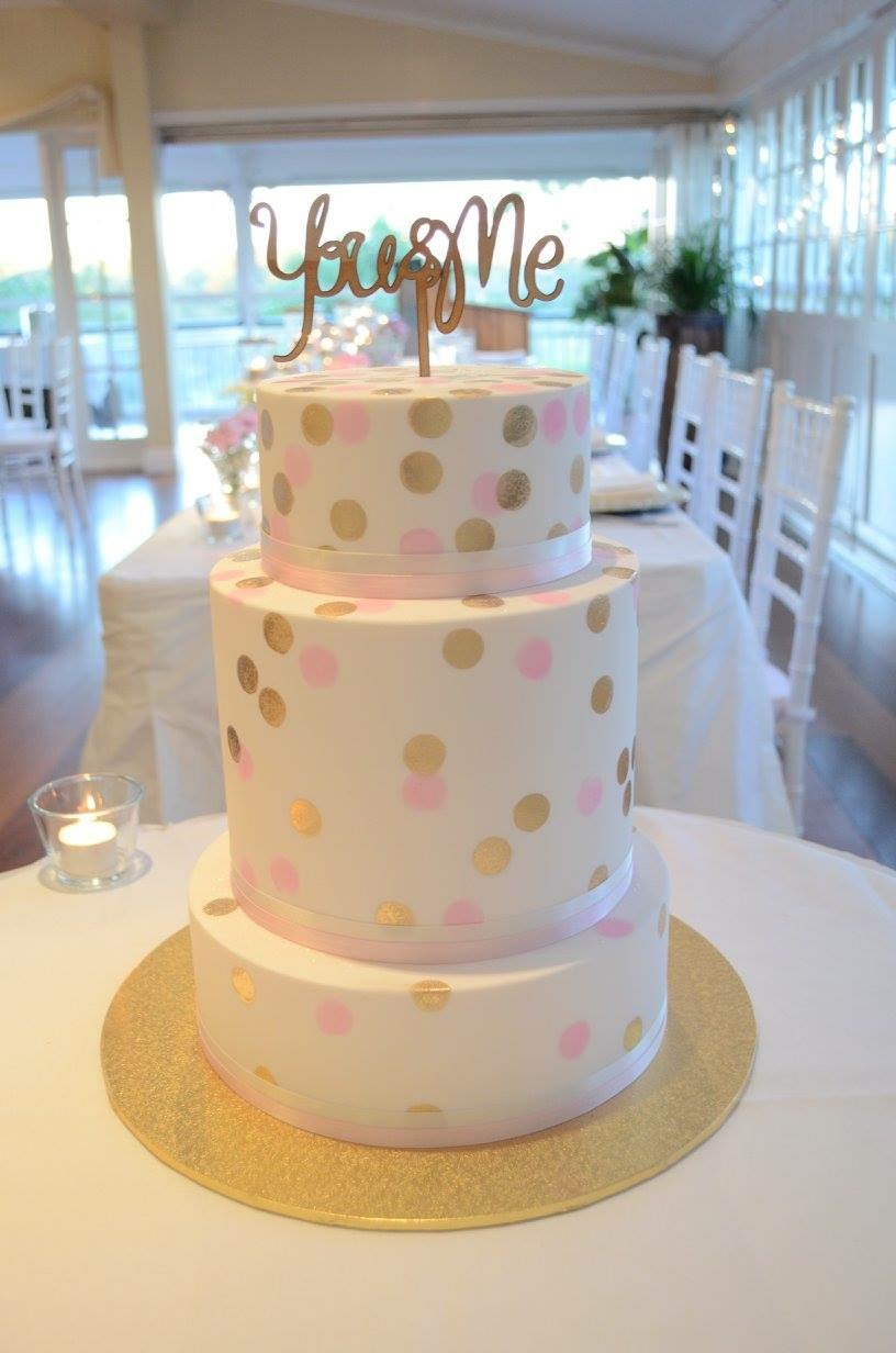 Vanilla Pod fondant wedding cake with confetti spots.JPG