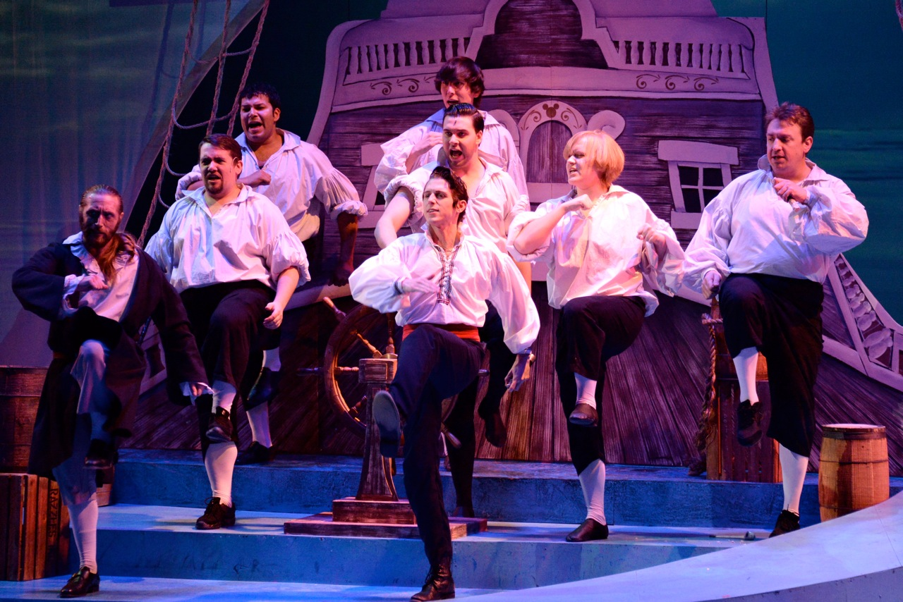 "Prince Eric and Sailors in ""Fathoms Below"""