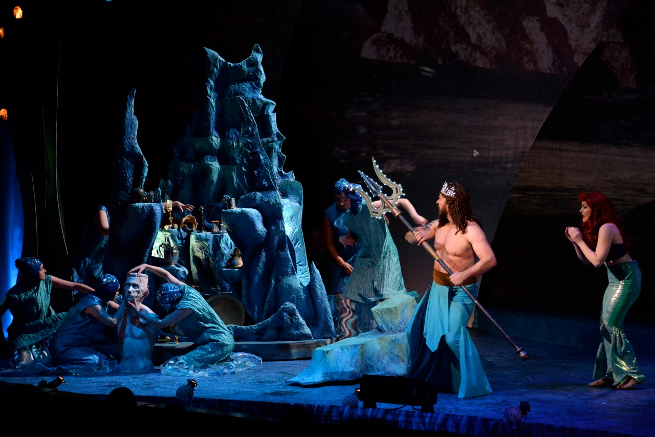 King Triton destroys Ariel's Grotto
