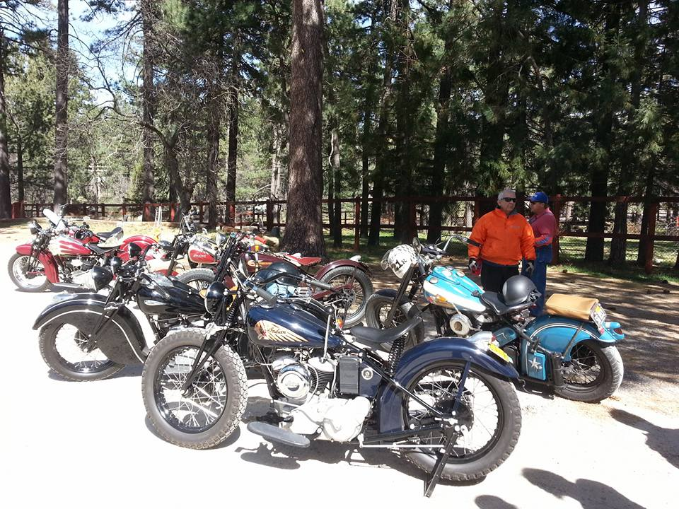 March 4 - Riders and their motorbikes:Indians, Harleys, Crockers, Nortons...More bikes than I can name here, really amazing machines.Mount Laguna - a fifty or so mile ride.