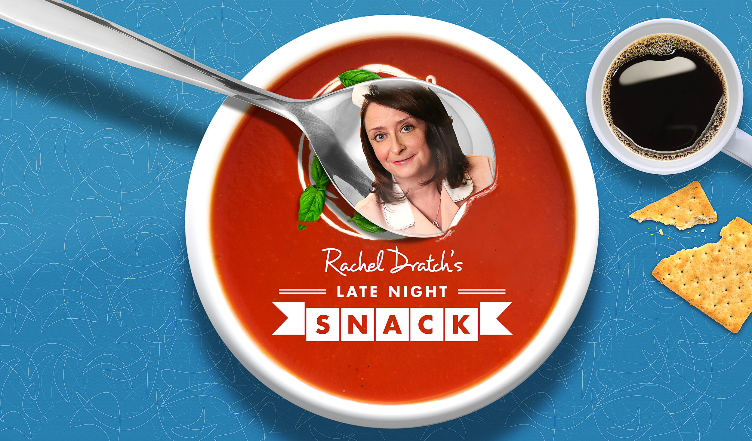 I updated the key art for Late Night Snack by creating a bowl of tomato soup, adding in the crackers and then changing the background color.