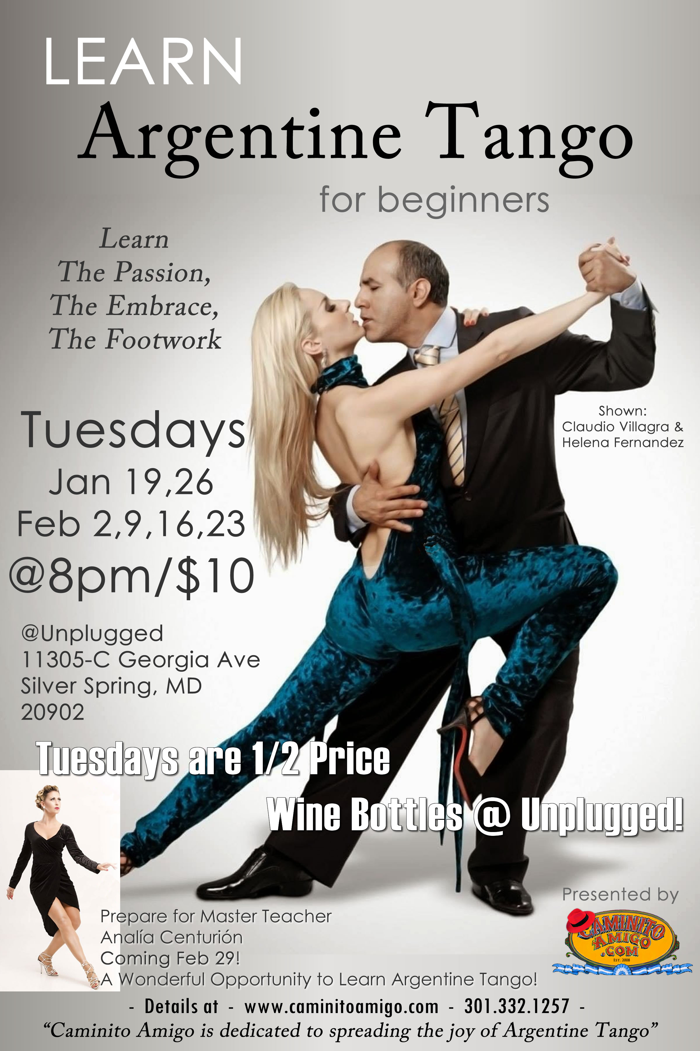 Learn Argentine Tango for beginners Poster