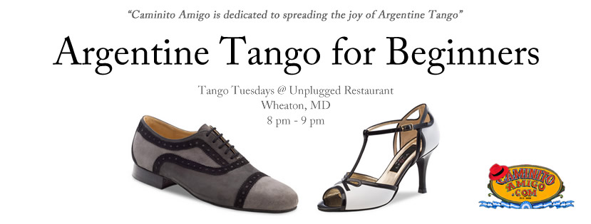 Argentine Tango for Beginners - Tango Tuesdays @ Unplugged Restaurant, Wheaton, MD 8 pm - 9 pm