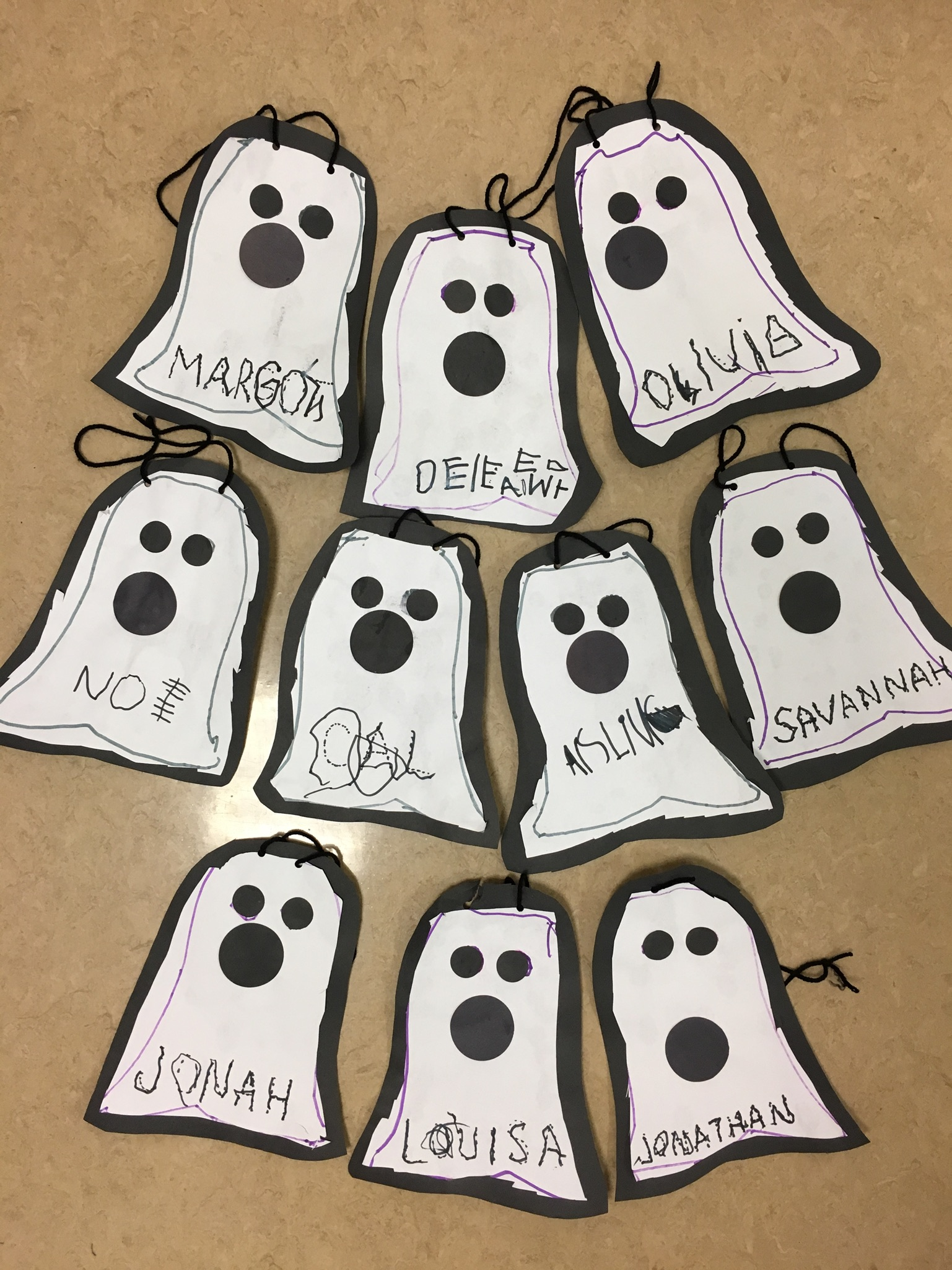 M-F Class - October Name Tags