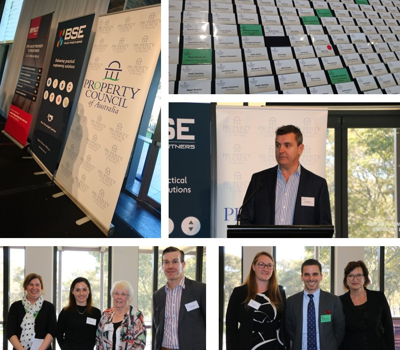 Images: Right center: BSE's Craig Slorach addressing the delegates. Bottom Row: Expert panel and discussion participants.
