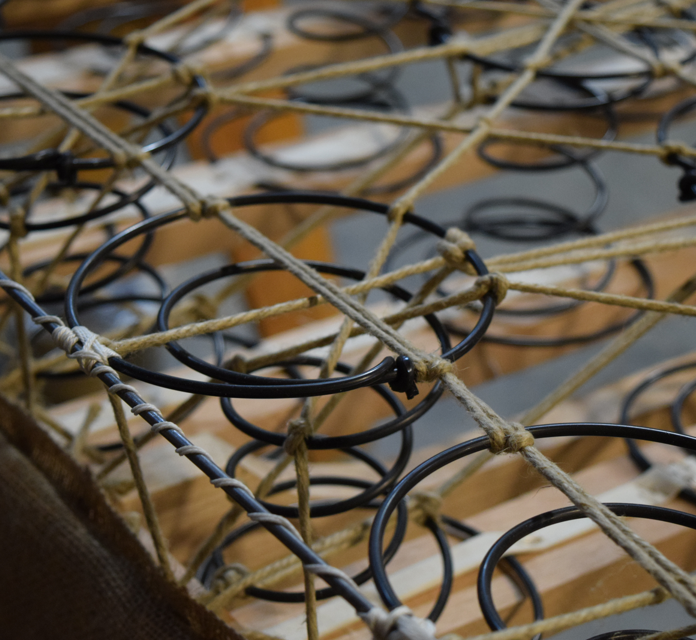 STEEL SPRINGS&HEMP TWINE -