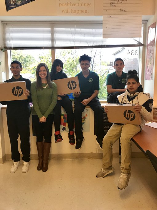 2018 Mini-grant recipient:Elizabeth matthews - Hartford Public9th grade English and Advisory studentsThis mini grant allowed for the purchase of three laptops, used for research, writing, and reading activities in the classroom, and also improved students' overall comfort level with technology. They are readily available everyday to help these students learn and succeed!