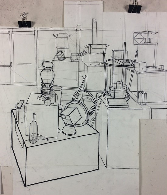 J. S.  Empirical Perspective Assignment,  charcoal, from Observation & Visualization, spring 2017