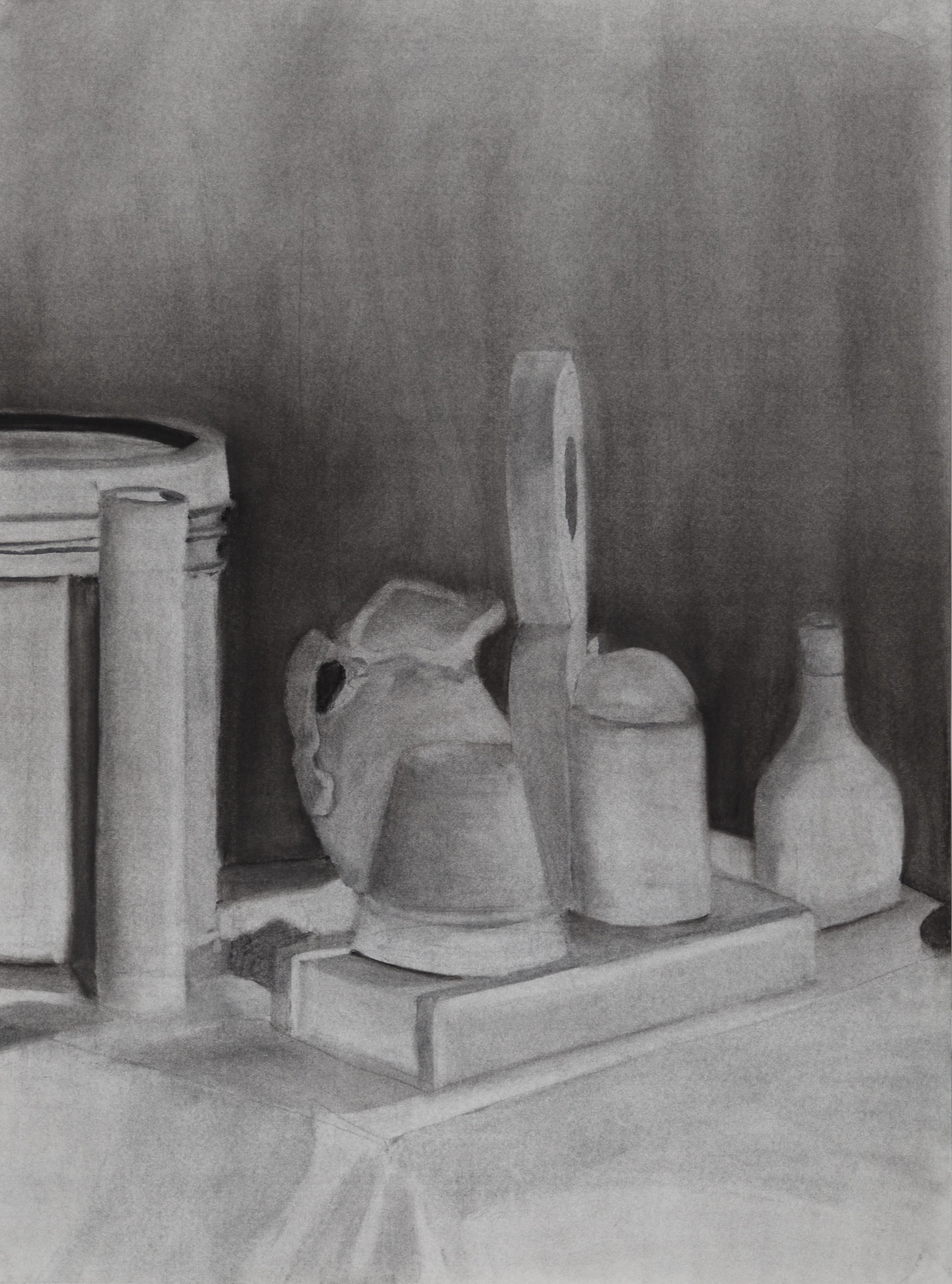 """N.W.  White Study   Assignment , charcoal, 18 x 24"""", from Intro to Drawing Fundamentals, summer 2017"""