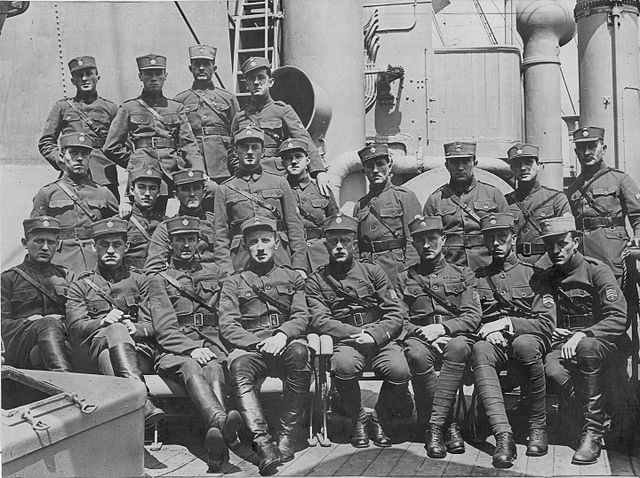 Czech Legion officers aboard  Mount Vernon headed for Norfolk, Virginia in 1920.Image by Martin Horsky