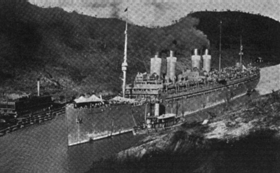 USAT   Mount Vernon  , 25 May 1920, transiting Panama Canal bound from Vladivostok to Hamburg.