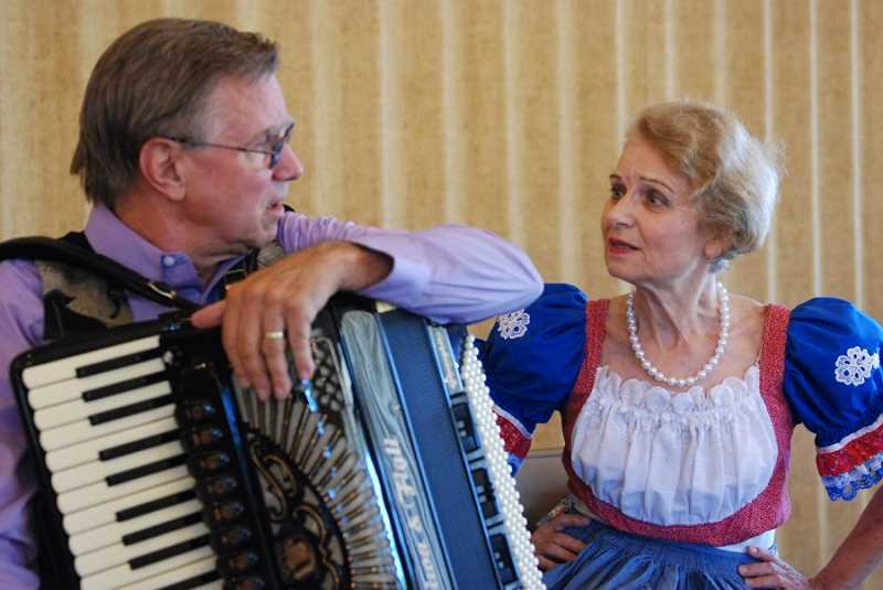 Mark & Helena tell their love story with lively original compositions, comedy and dance. Photo by Ammon Riley for the  Regal Courier.