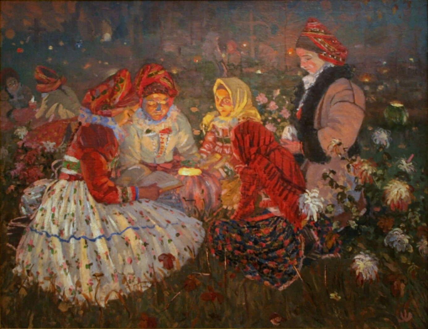 Joža Uprka    All Souls' Day,1897   Oil on Canvas  Height: 31.2 inches. Width: 40.1 inches  Národní galerie v Praze, National Gallery in Prague  Prague, Czech Republic