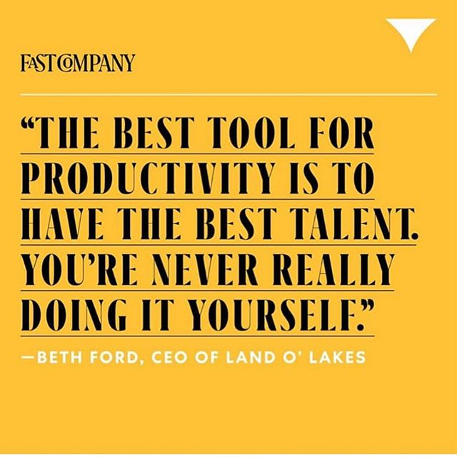 We agree #besttalentgroup @playworkgroup @fastcompany #bethford #talent #teams #collaboration #success