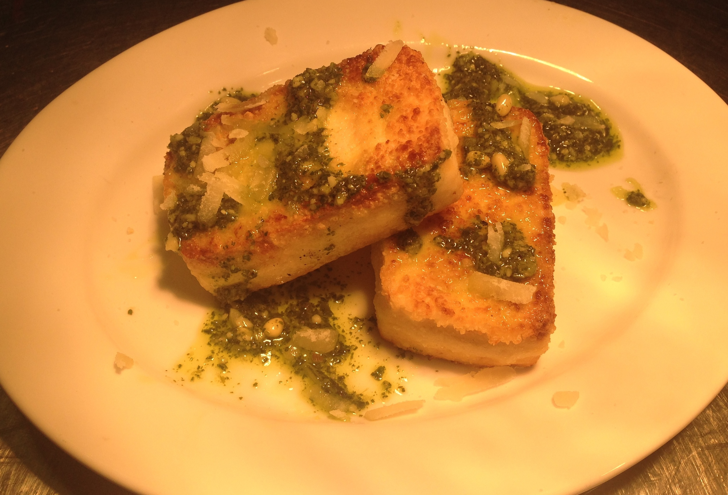 Seared Tofu, Pesto Dressing