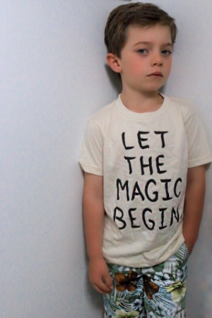Jack is wearing Little Urban Apparel shirt - available at MiniMacko