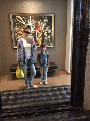 Love the huge mirrors and artworks all over the walls in our room and in the hotel lobby!