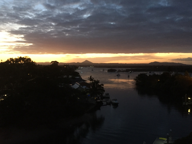 Already missing this spectacular view over the Noosa river ways.