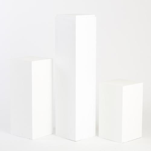 WHITE TIMBER PLINTHS