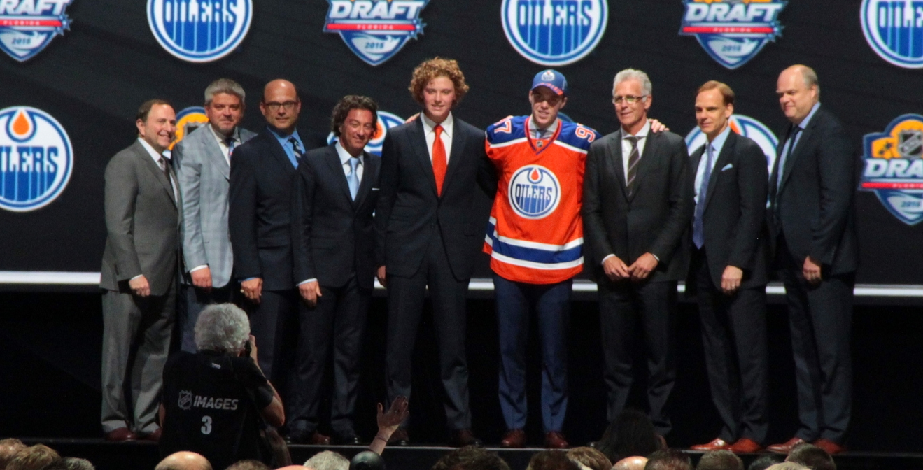 Connor McDavid was selected first overall in the 2015 NHL Entry Draft held in Sunrise, FL.