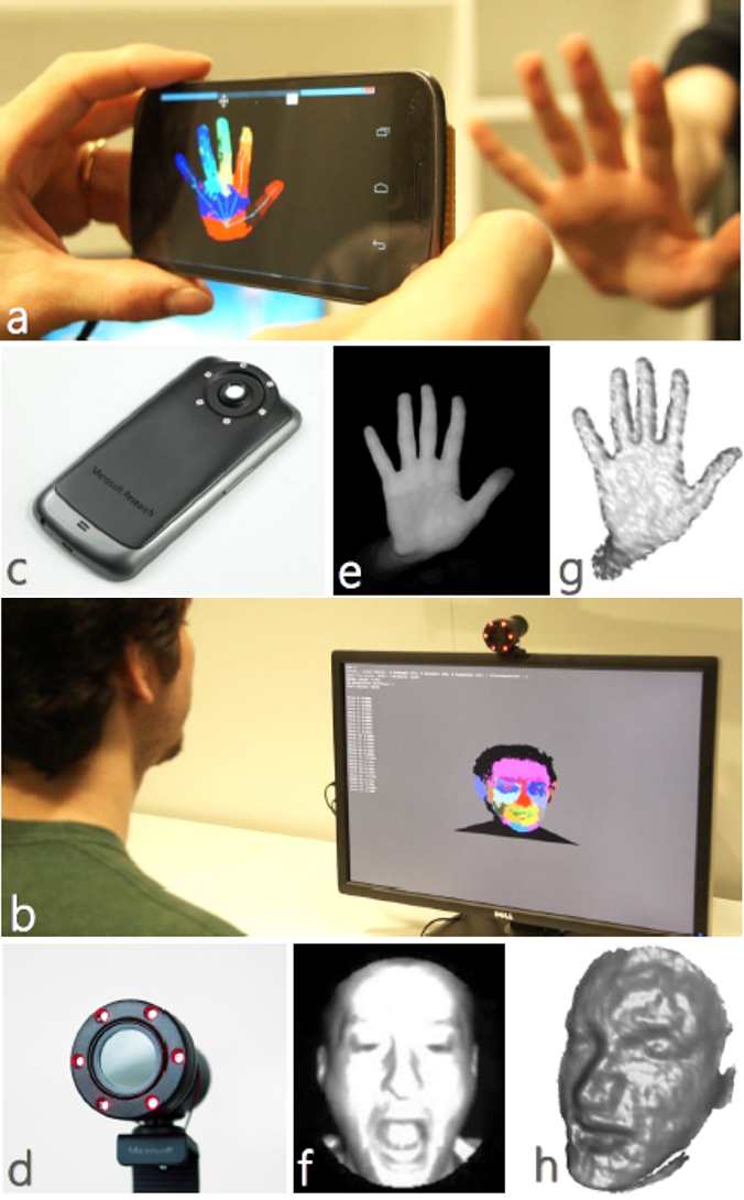 Learning to be a depth camera for close-range human capture and interaction
