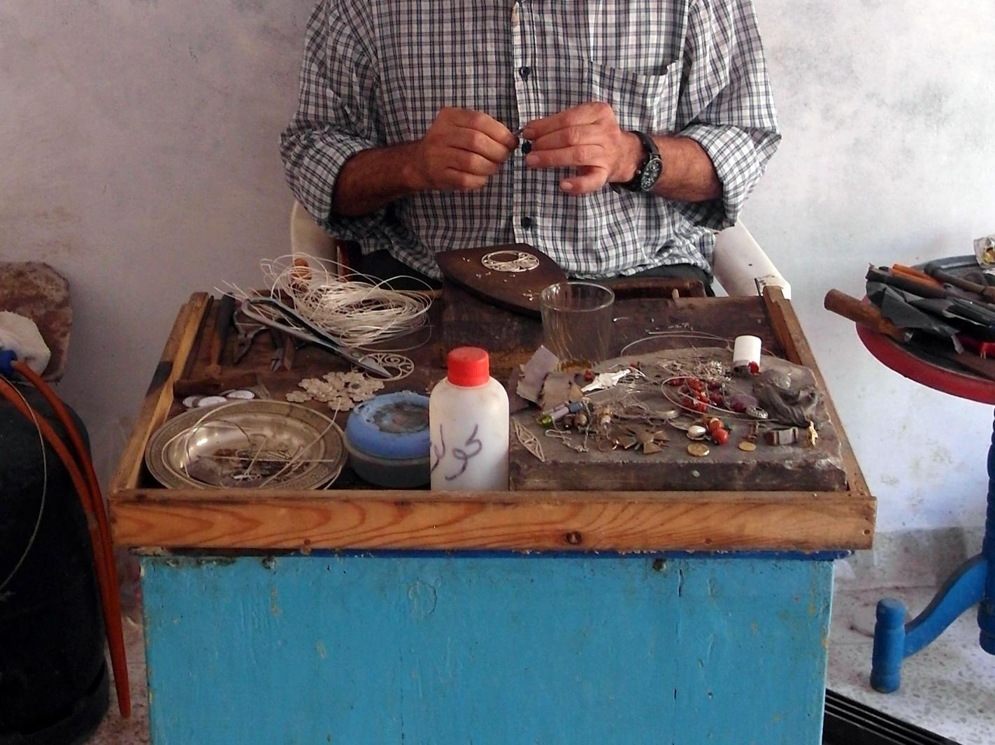 Copy of A filligree silversmith in Essaouira.JPG