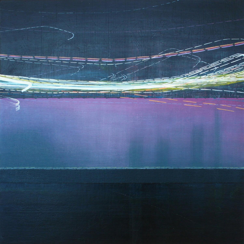 'Across & Beneath II' 45 cm W x 45 cm H $600,-