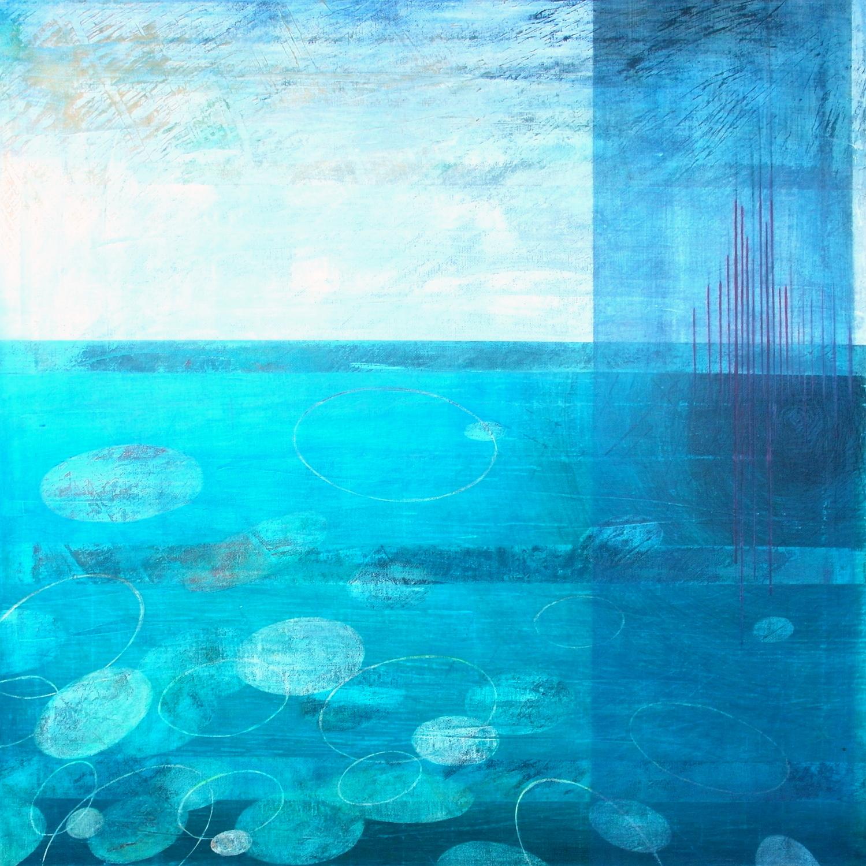 'Floating' 60 cm W x 60 cm H $̶9̶5̶0̶,̶-̶ SOLD