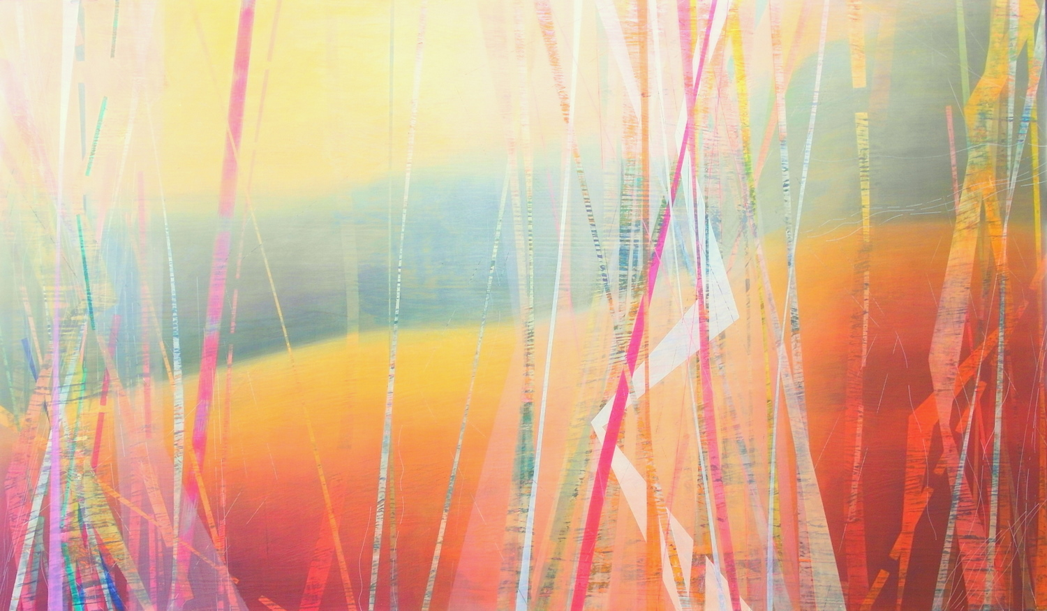 'departure V' 120 cm W x 70 cm H $̶3̶,̶4̶0̶0̶,̶-̶ SOLD