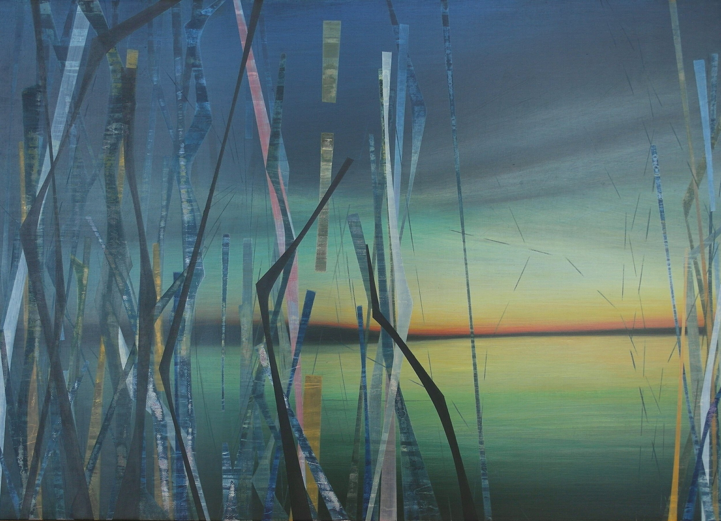 'Evening with Green' 59.5cm W x 42cm H $̶1̶,̶2̶0̶0̶  SOLD